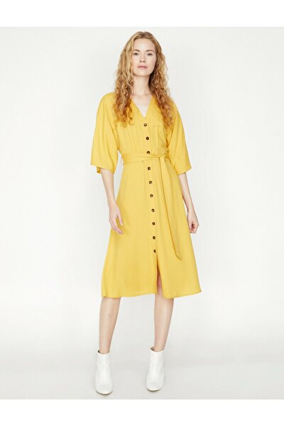 The Natural Look Dress - Dogal Dokulu Elbise