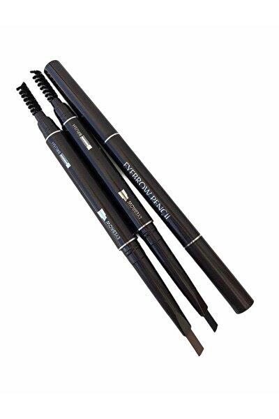 Çift Taraflı Kaş Kalemi 2'li Set & Kahverengi Siyah Eyebrow Pencıl