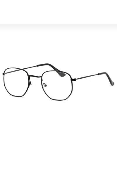 Beşgen Siyah Mavi Işık Korumalı Gözlük
