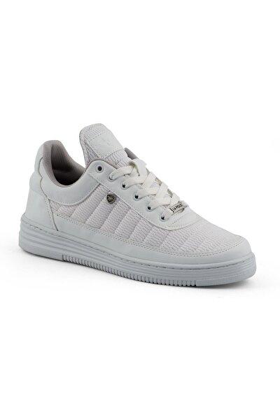 077 Beyaz Beyaz Dikişli Taban Yazlık Erkek Spor Ayakkabı