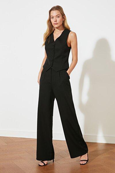 Siyah Geniş Paça Pantolon TWOSS21PL0189