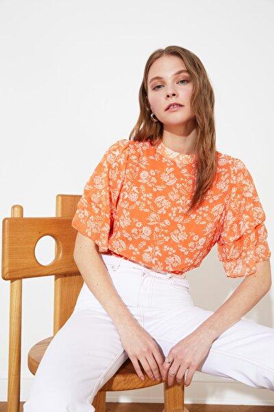 Çok Renkli Dik Yaka Bluz TWOSS21BZ0496
