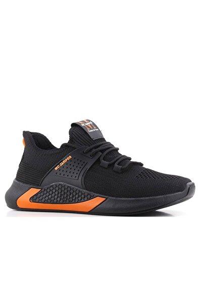 Erkek Siyah Turuncu Spor Ayakkabı