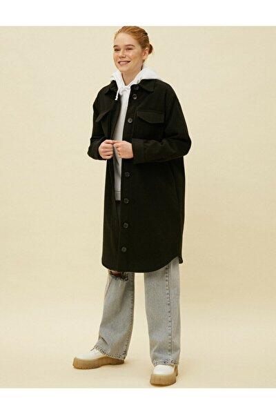 Gömlek Ceket Dügmeli Uzun