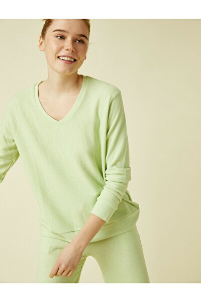 Kadın Mint Pijama Üstü 1KLK73695MK