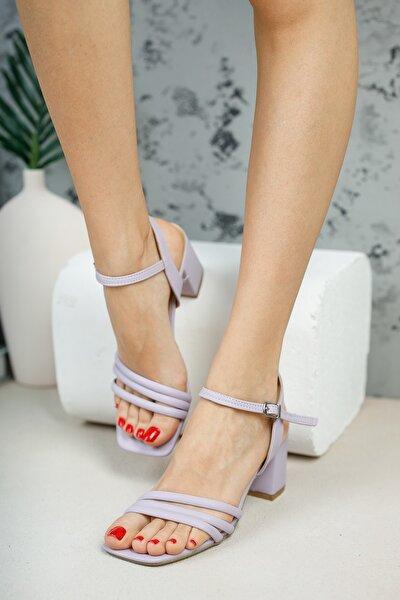 Kadın Lila Biyeli Sandalet