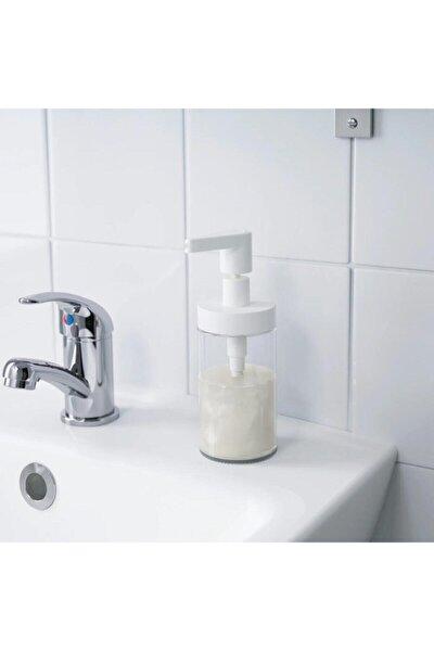 Tackan Sıvı Sabunluk Cam Beyaz Kapaklı 2adet