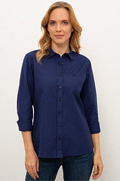 Lacıvert Kadın Gömlek
