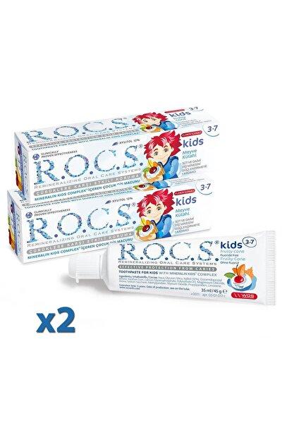 Rocs Kids 3-7 Yaş Diş Macunu Meyve Florürsüz 45g X 2 Adet