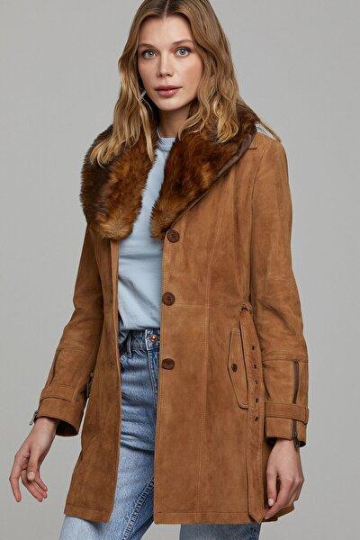 Kadın Rhoda Süet Deri Ceket