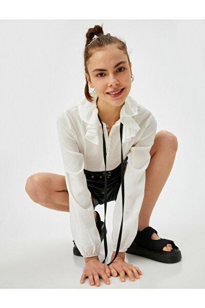 Kadın Gömlek Yaka Bluz