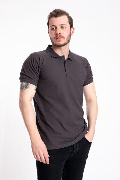 Erkek Antrasit Gri Polo Yaka T-shirt