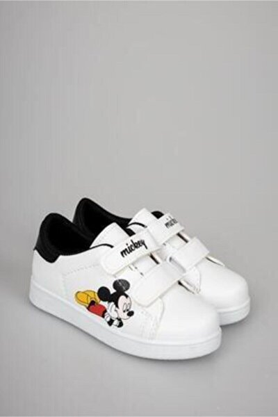 Çocuk Beyaz Çırtlı Günlük Spor Ayakkabı