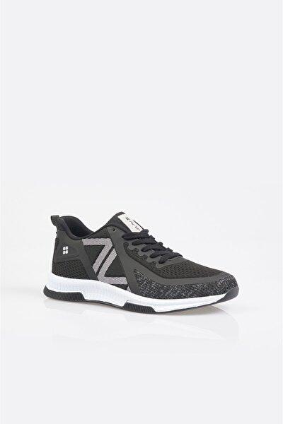 Erkek Siyah Yazı Detaylı Spor Ayakkabı A11y8001