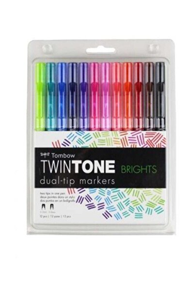 TwinTone Çift Uçlu Kalem 12`li CANLI RENKLER