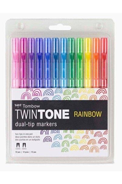 Twintone 12'li Rainbow Renkler Çift Uçlu Markör Seti