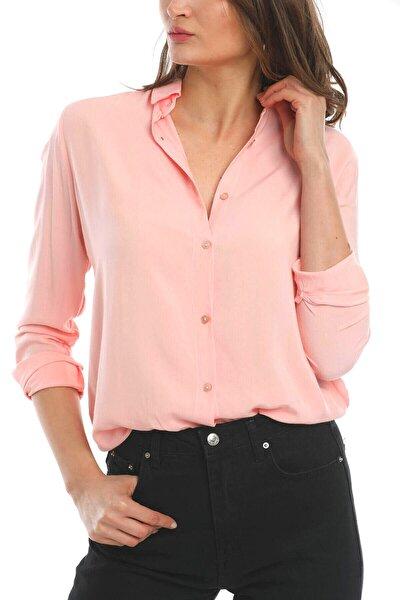 Kadın Pudra Basic  Gömlek