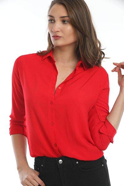 Kadın Kırmızı Gömlek