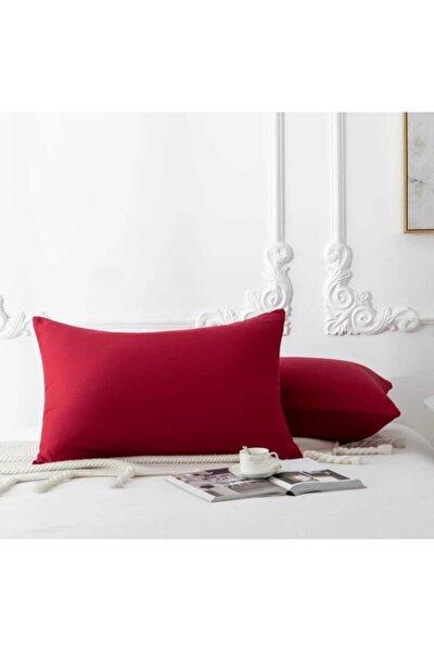 %100 Pamuklu Lüx Kırmızı Yastık Seti