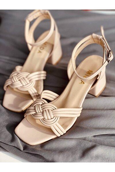Ten Desenli Topuklu Ayakkabı