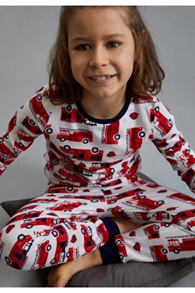 Erkek Çocuk Itfaiye Arabası Desenli Pijama Takımı