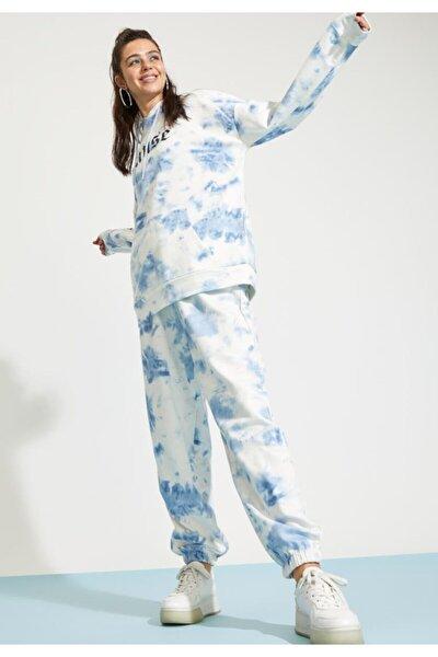 Kadın Batik Beli Bağcıklı Relax Fit Jogger Eşofman Altı T8165AZ21SP