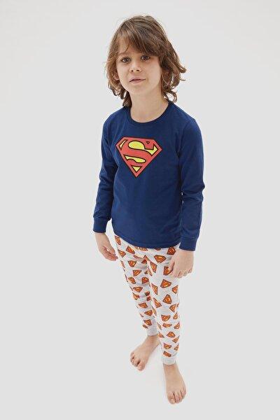 Erkek Çocuk Süperman Pijama Takımı