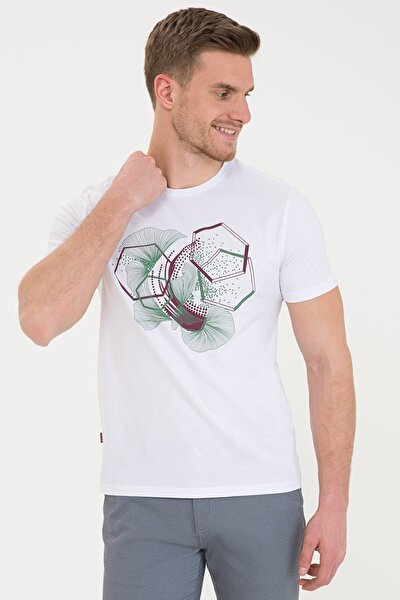 Beyaz Erkek T-Shirt G021SZ011.000.1201091