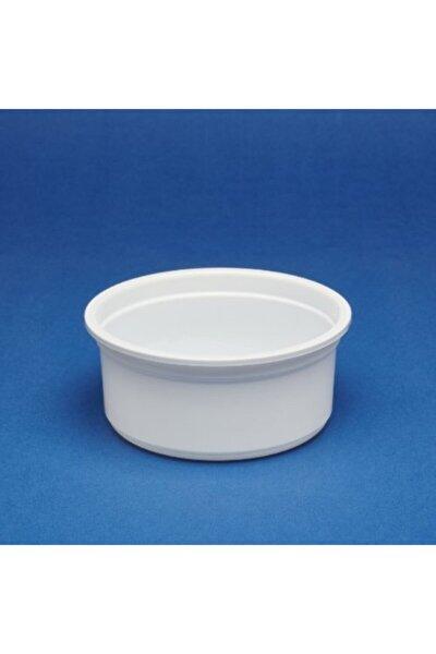 200 Gr Plastik Beyaz Kap Ve Kapağı 100 Adet Tek Kullanımlık