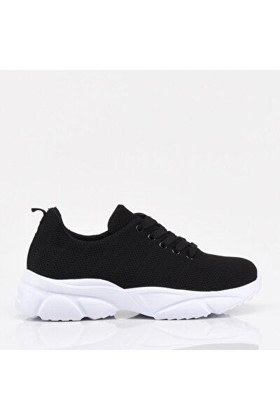 Siyah Yaya Kadın Spor Ayakkabı