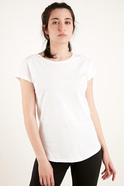 Kadın Beyaz Kolsuz Basic Tshirt