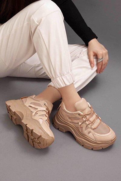 Guuen-415 Kadın Vizon Yüksek Taban Sneaker