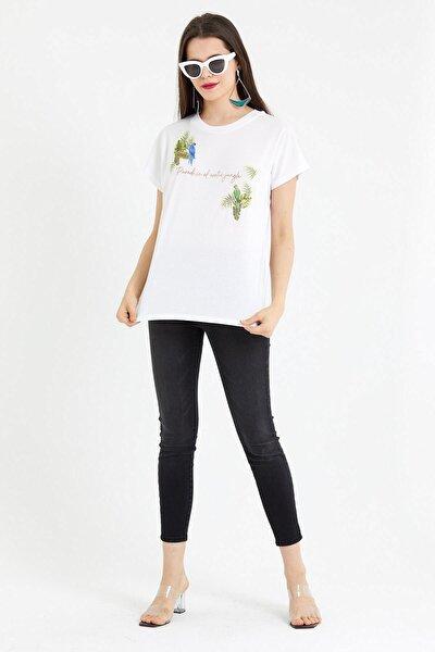 Kadın Beyaz Paradise T-Shirt