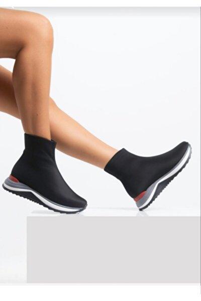 Kadın Triko Streç Çorap Bot Sneaker Günlük Spor Ayakkabı 202