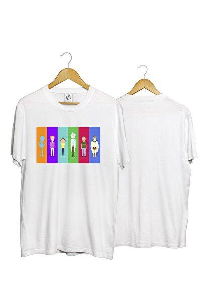 Unisex Genç Beyaz Pamuk Normal Kalıp T-shirt