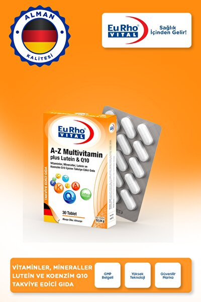 Vital A-z Multivitamin Plus Lutein & Coq-10 30 Tablet
