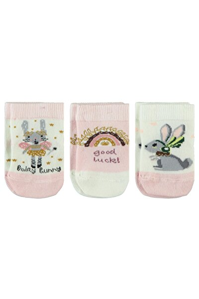 Kız Bebek Pembe Çorap 3'lü