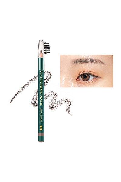 Doğal Görünüm Sağlayan Kaş Kalemi Clay Eyebrow Pencil (Gray Brown)