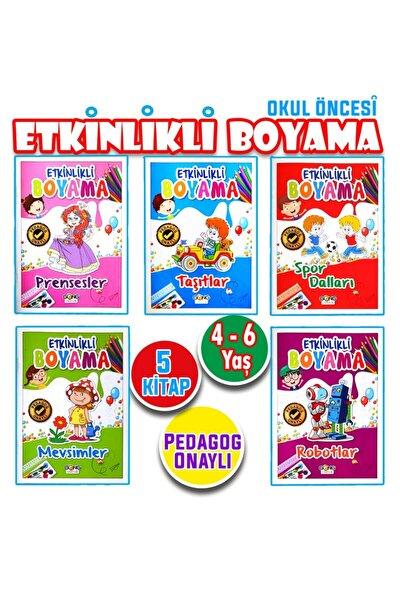 Okul Öncesi Eğitici Etkinlik Boyama Seti 5 Kitap!!!