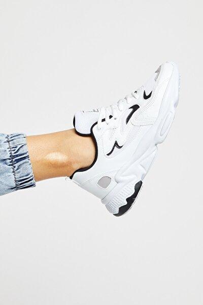 Unısex Beyaz Siyah Spor Ayakkabı Tb251