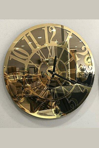 Dekoratif Aynalı Duvar Saati