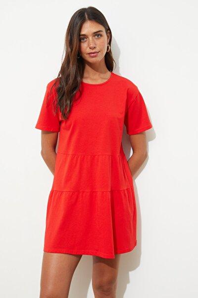 Kırmızı Basic Örme Elbise TWOSS20EL2347