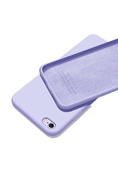 Mor Iphone 6 6s Uyumlu İçi Kadife Lansman Silikon Kılıf