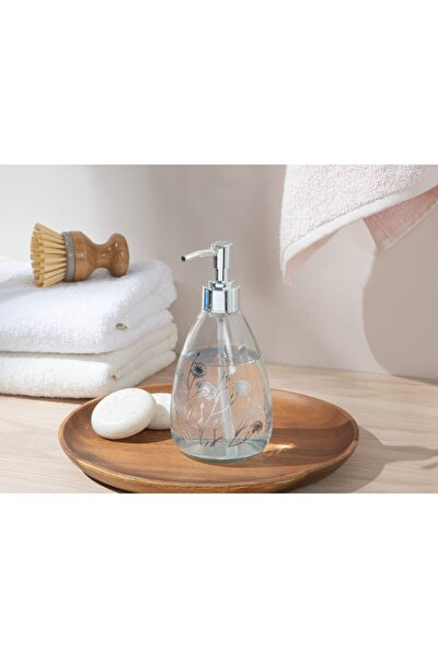 Dandelion Cam Banyo Sıvı Sabunluk 7x7x18 Cm Silver
