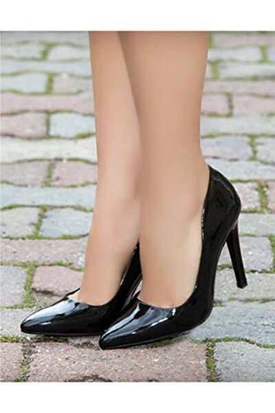 Kadın Siyah Rugan Stiletto Ma-021