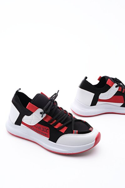 Kadın Streç Sneaker Spor Ayakkabı Felyabeyaz