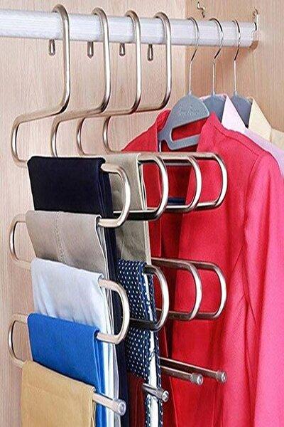 5 Katlı Metal Pantolon Ve Eşarp Askısı 2 Adet