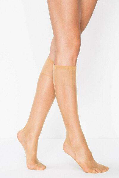 Kadın Süper Ince Dizaltı Çorap 15 Mat