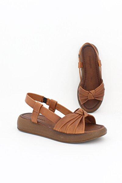Hakiki Deri Taba Taba Kadın Deri Sandalet Dp-1841