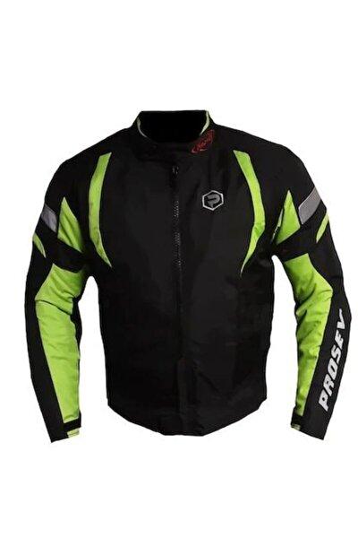 Erkek Yeşil Siyah Malibu Motosiklet Montu